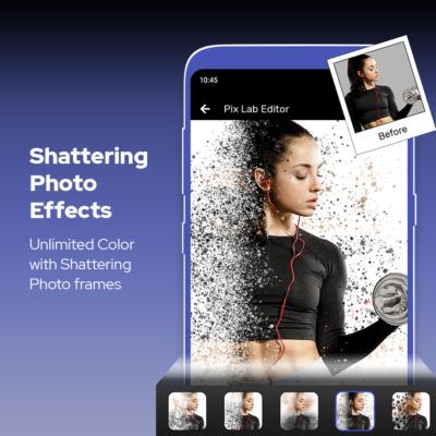 Imikimi Shattering Photo Effects